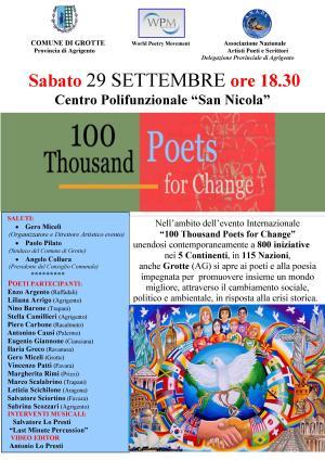 MANIFESTO 100 mila poeti per il cambiamento GROTTE
