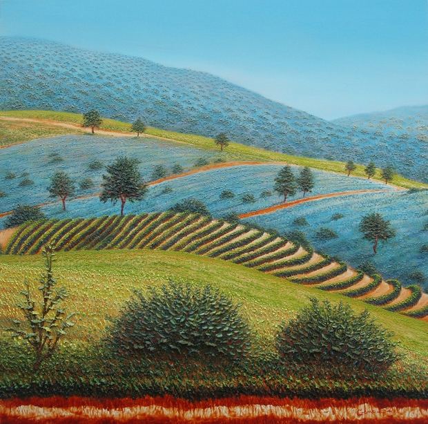Gene - Vigneto in California - cm 80x80