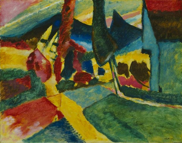 764px-Wasilly_Kandinsky,_1912,_Landscape_With_Two_Poplars,_78_8_x_100_4_cm,_The_Art_Institute_of_Chicago