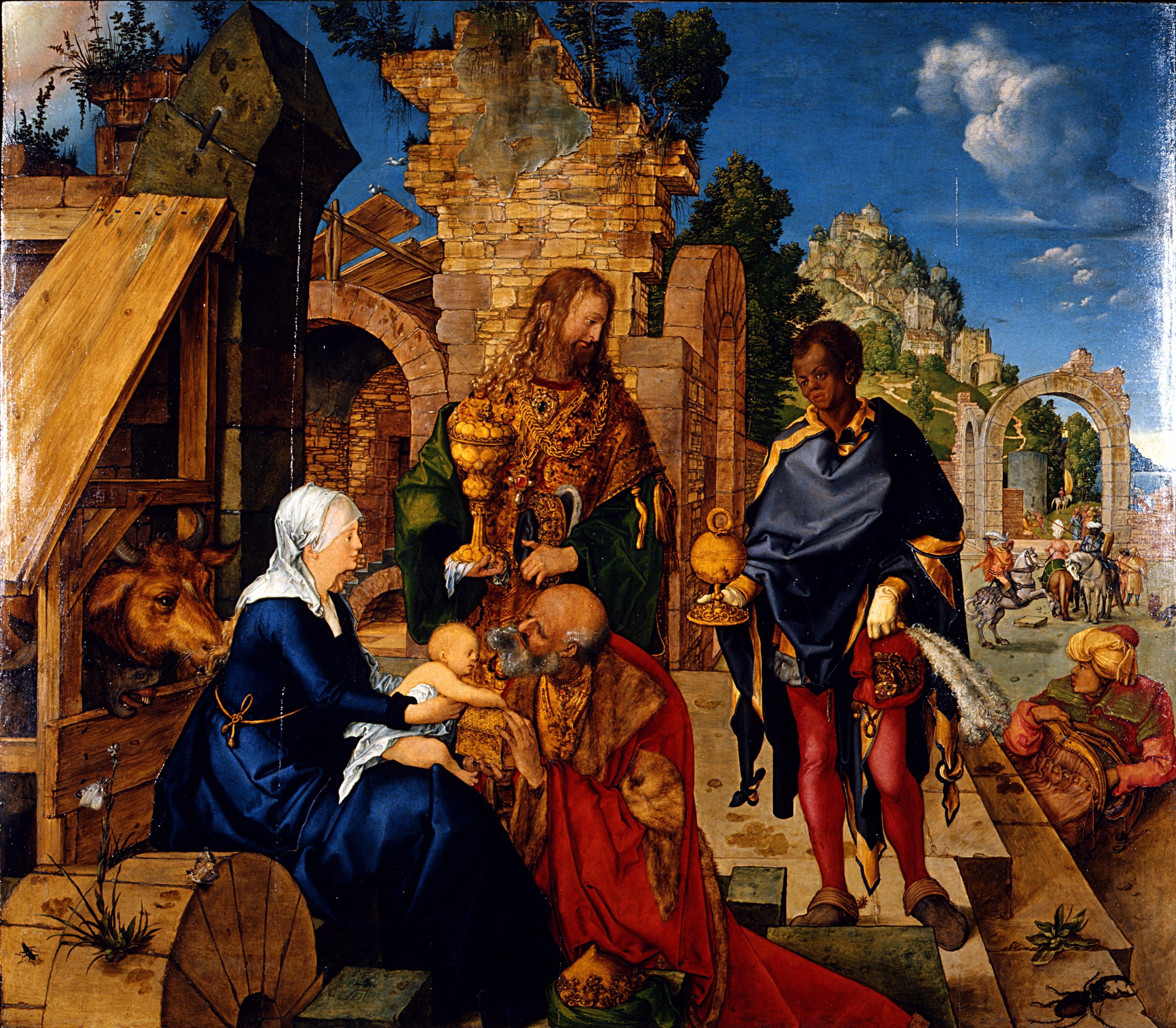 Albrecht-Dürer-Adoration-of-the-Magi-Painting
