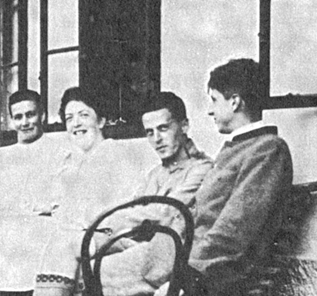 Wittgenstein (second from right), Summer 1920