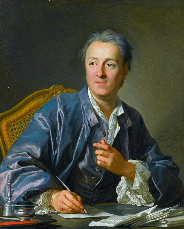 Il filosofo anticlericale Denis Diderot, 1767, ritratto da Louis-Michel van Loo.