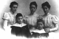 Ludwig Wittgenstein (bottom-right), Paul, and their sisters, late 1890s