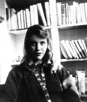 Plath in 1957, source Wikipedia