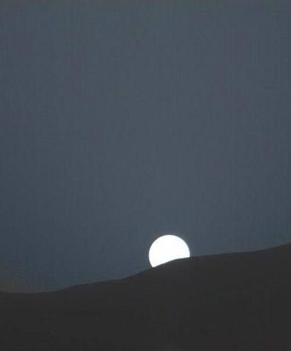 Tramonto su Marte - Curiosity NASA