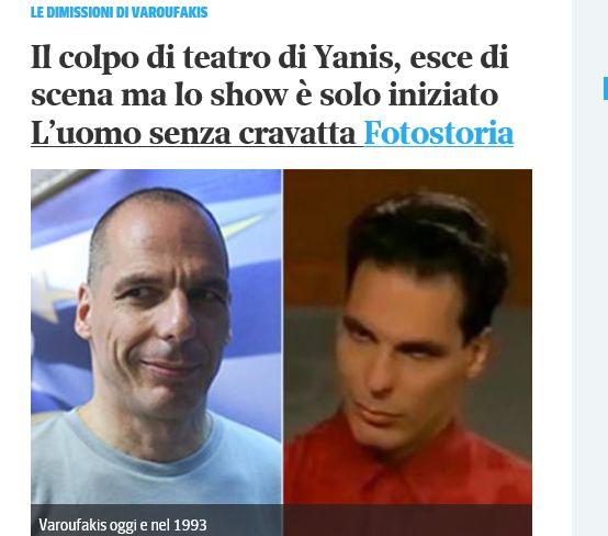 Il trendyssimo Varoufakis tra le pagine del Corriere.it