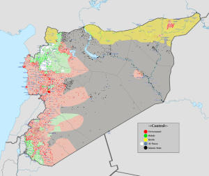 Syrian Civil War, source Wikipedia