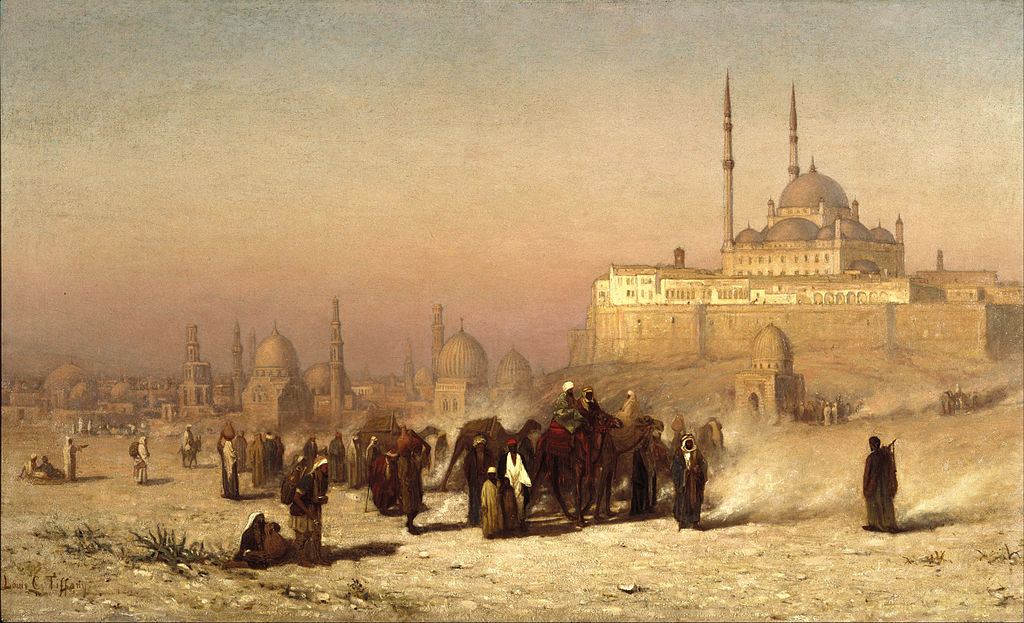 Louis Comfort Tiffany (American, 1848-1933). On the Way between Old and New Cairo, Citadel Mosque of Mohammed Ali, and Tombs of the Mamelukes, 1872.