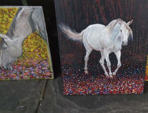 horses paintings kk