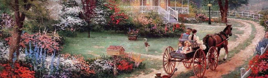 beautiful-flowering-home-garden-and-horse-carriage-painting-web-header