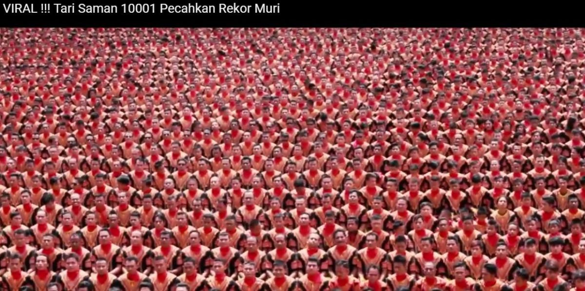 Pazzesco, bellissimo, spettacolare - Tari Saman 10001 Pecahkan Rekor Muri