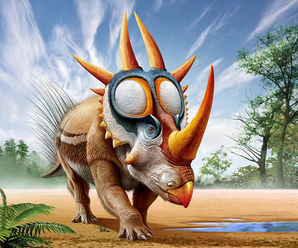 A-Rubeosaurus-roams-a-prehistoric-environment