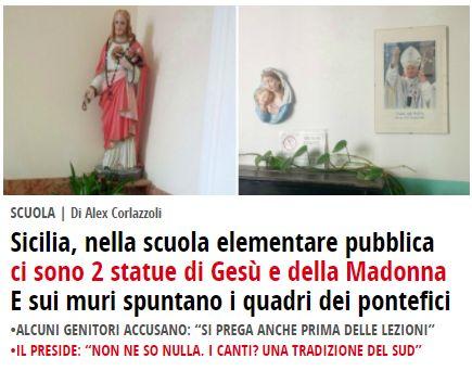 Dalla televisione alla scuola pubblica: come la superstizione religiosa affonda l'Italia. Sul tratto altamente diseducativo del programma Forum (Canale 5) e sul perché i genitori dovrebbero cominciare a denunciare — ROSEBUD - Arts, Critique, Journalism