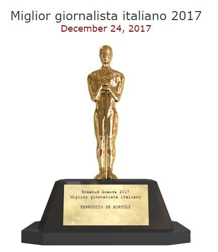 Rosebud Awards 2017 miglior giornalista
