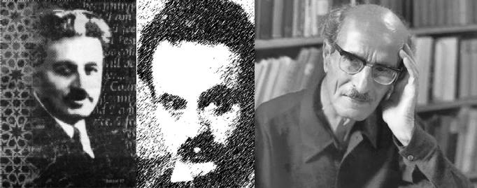 Gibran Rihani and Naimy collage